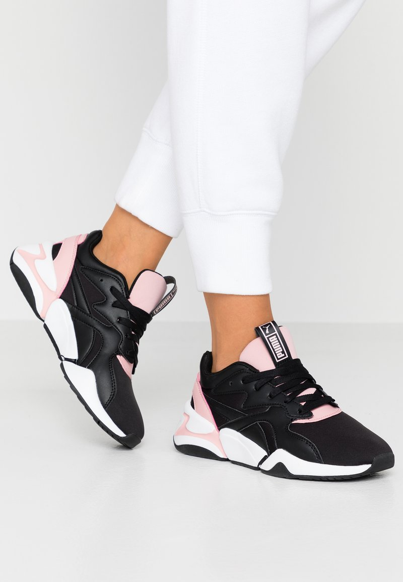 Puma - NOVA - Sneaker low - black/bridal rose