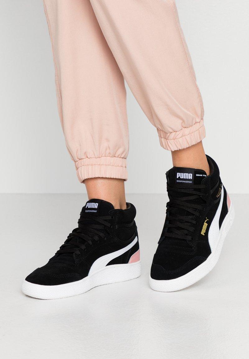 Puma - RALPH SAMPSON MID - Sneakersy wysokie - black/bridal rose