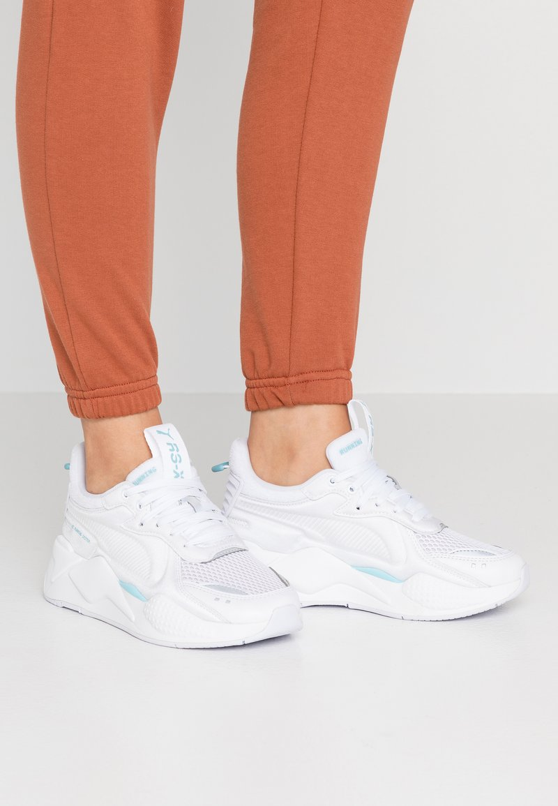 Puma - RS-X SOFT CASE - Trainers - white/milky blue