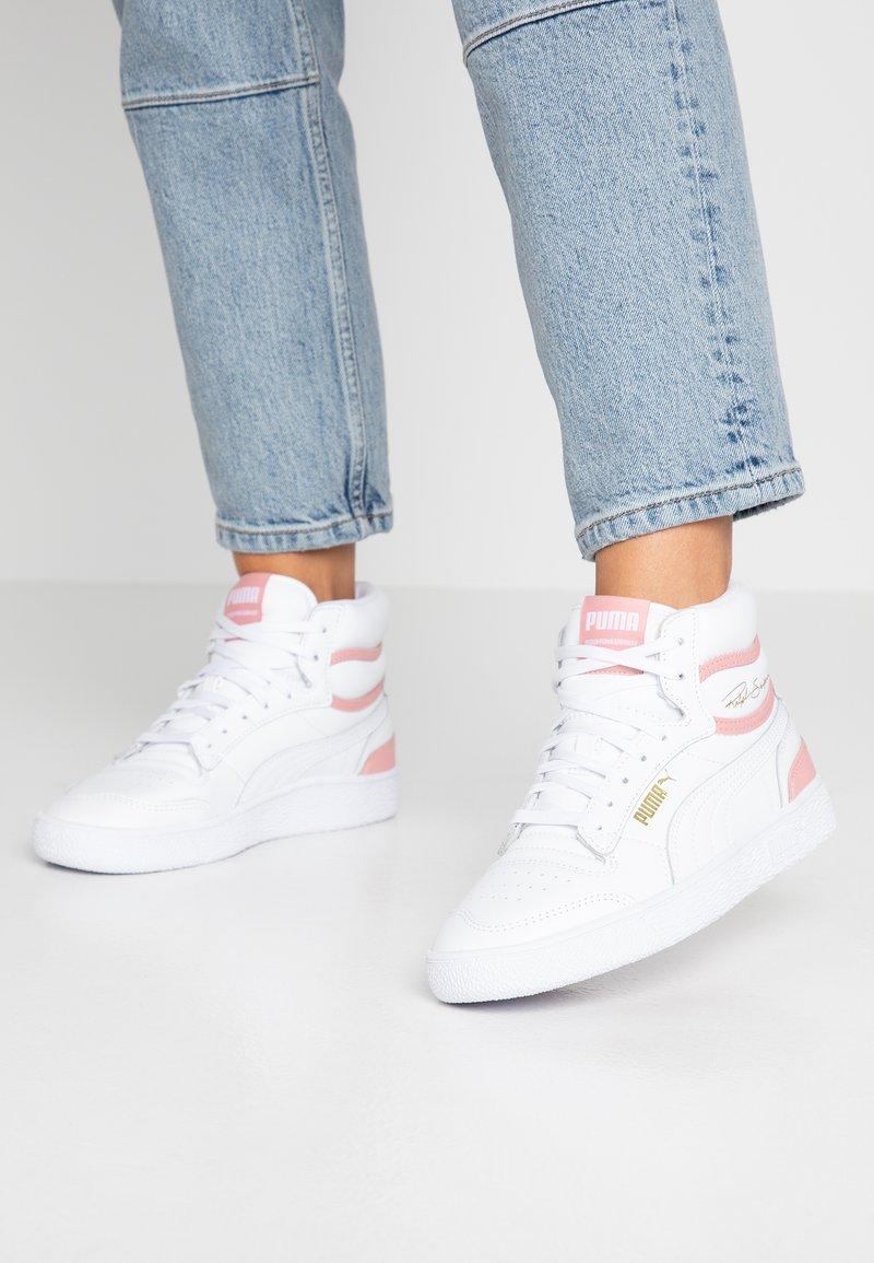 Puma - RALPH SAMPSON MID - Sneaker high - white/bridal rose
