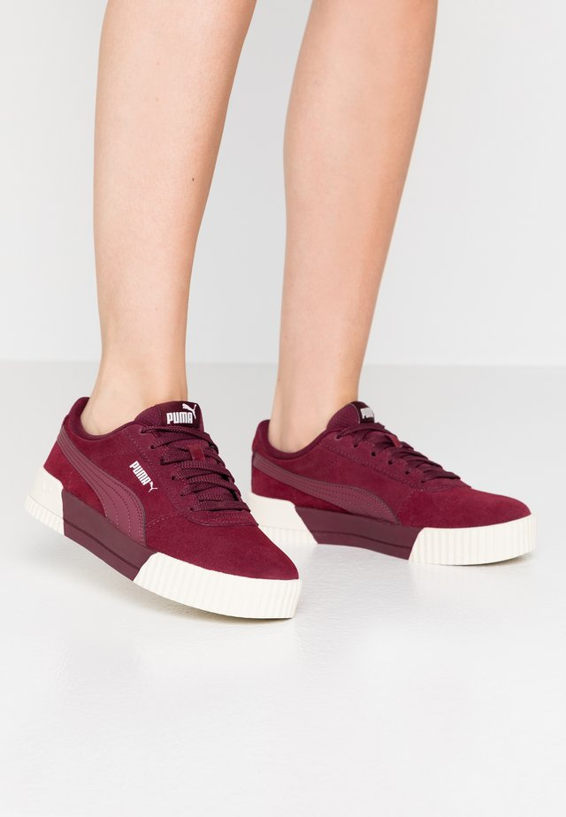 CARINA - Sneakers laag - burgundy/whisper white