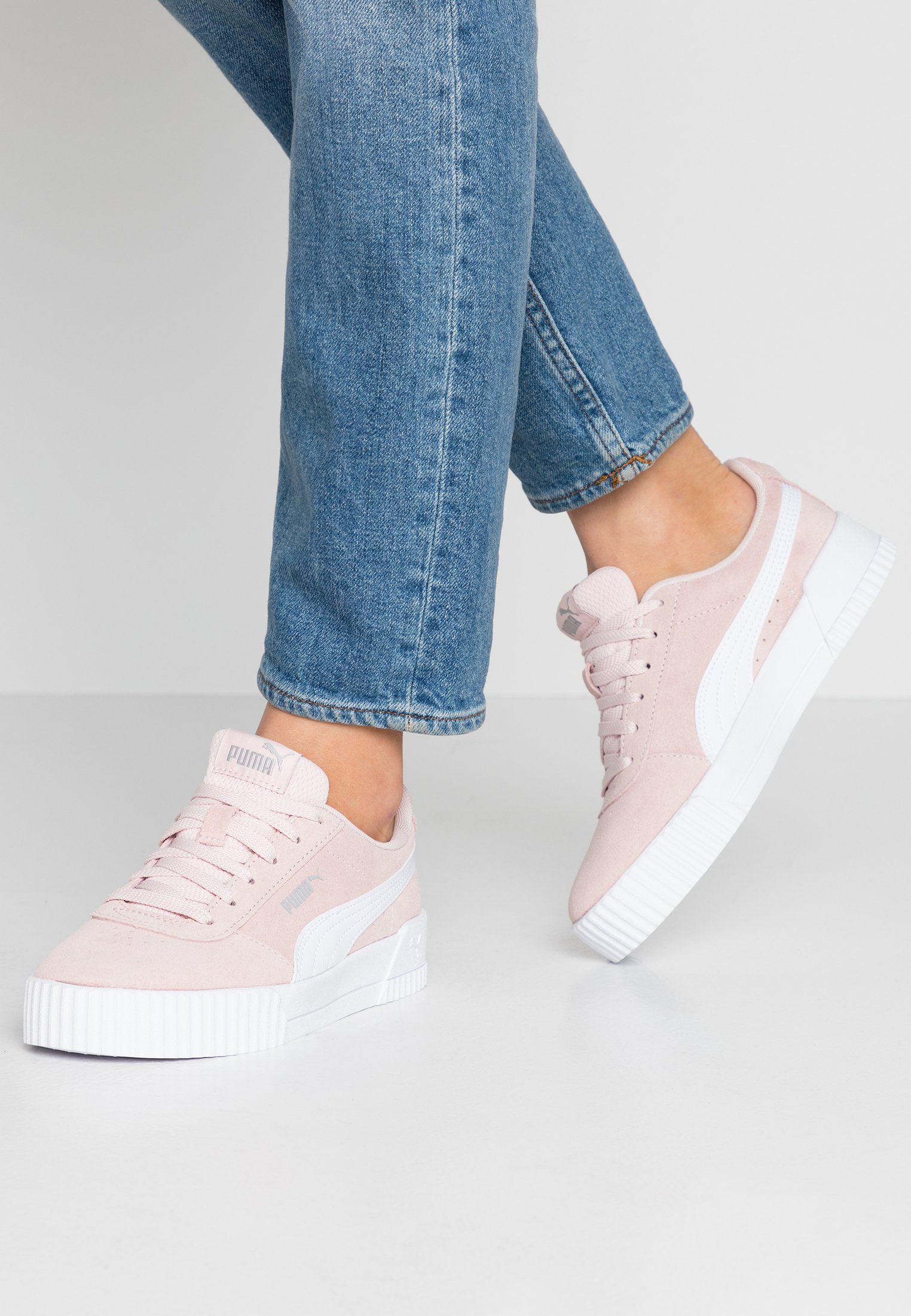 CARINA - Sneakers laag - rosewater/white/silver