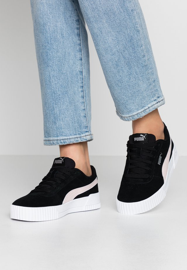 CARINA - Sneakers laag - black/rosewater/silver
