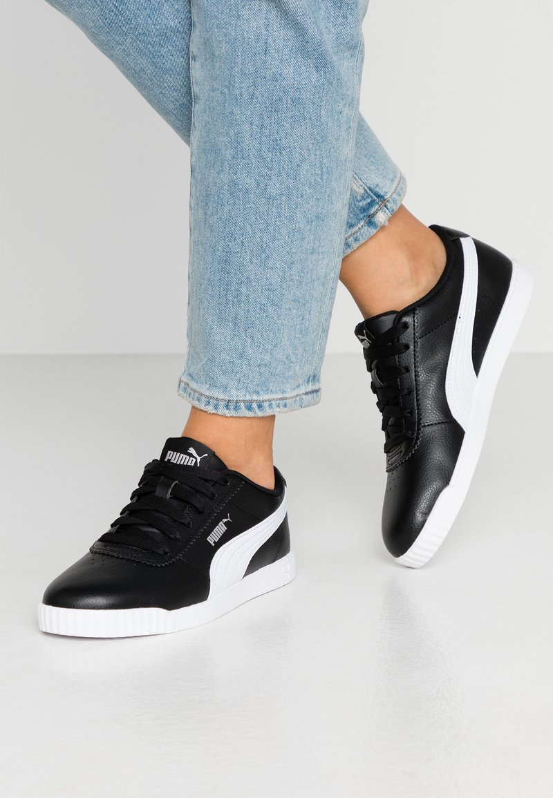 Puma - CARINA SLIM - Baskets basses - black/white
