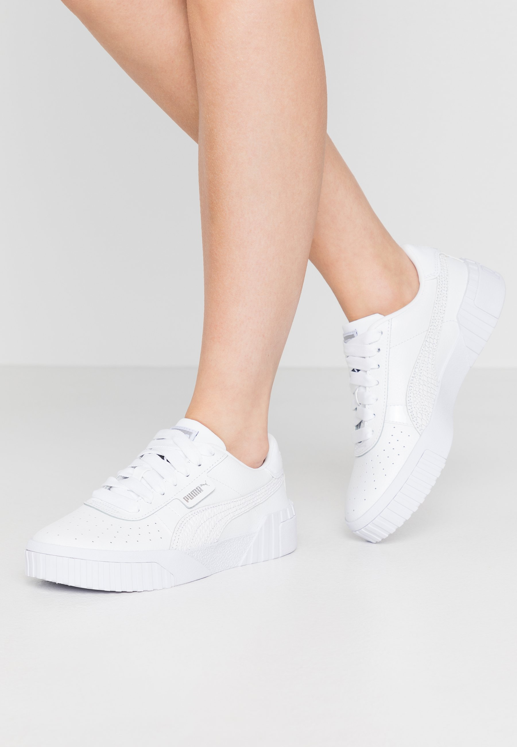 CALI - Sneakers laag - white/metallic silver