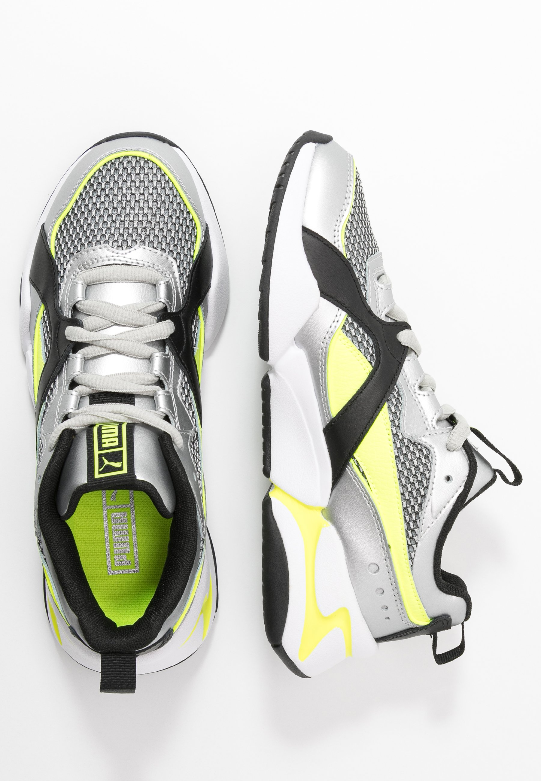 NOVA 2 FUNK - Trainers - metallic silver/yellow alert/black