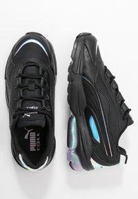 Puma - CELL STELLAR GLOW  - Sneakersy niskie - black/purple heather - 3