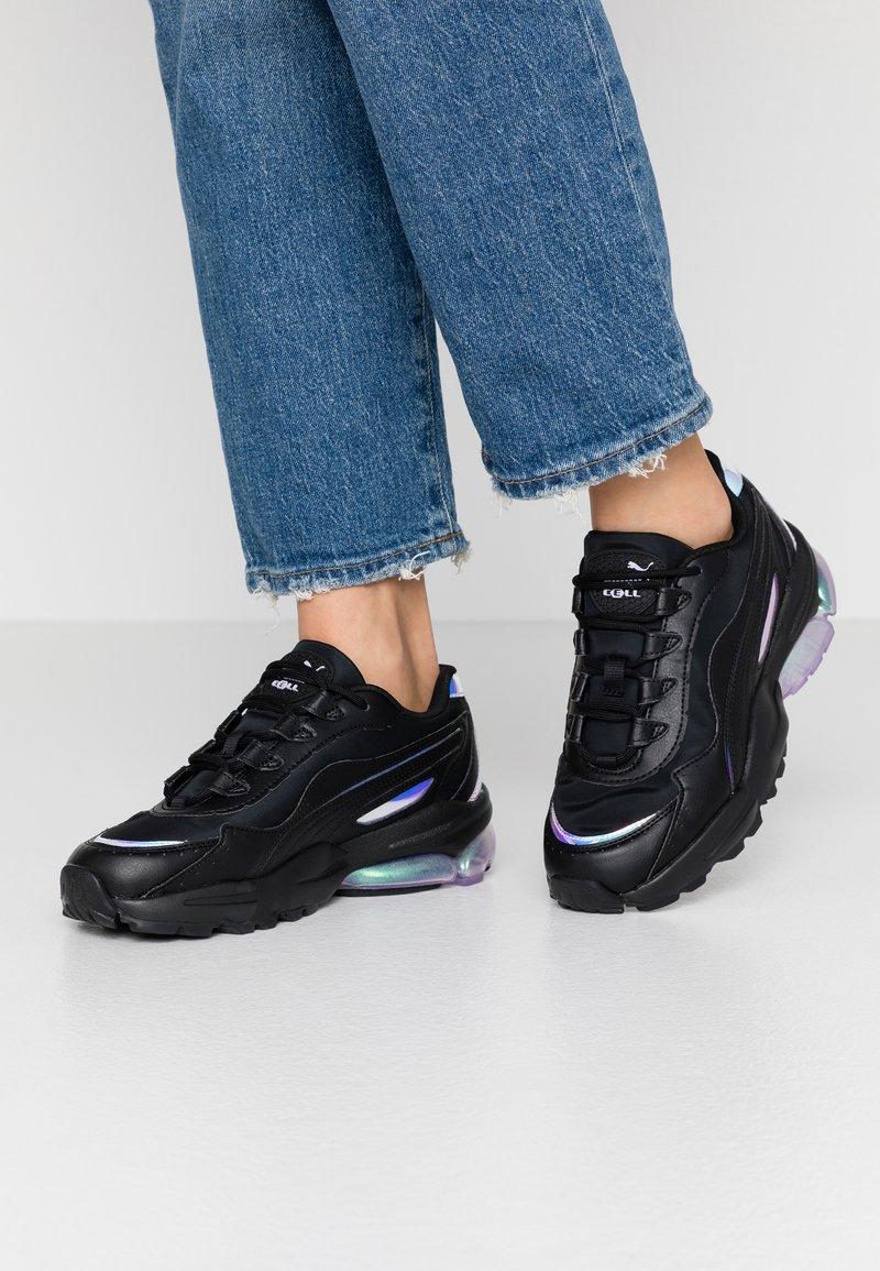 Puma - CELL STELLAR GLOW  - Sneakersy niskie - black/purple heather