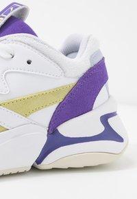Puma - NOVA POP  - Trainers - white/purple corallites/sunny lime - 2