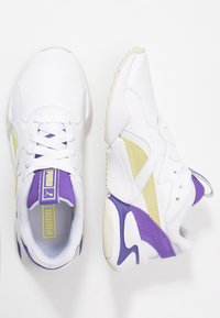 Puma - NOVA POP  - Trainers - white/purple corallites/sunny lime - 3