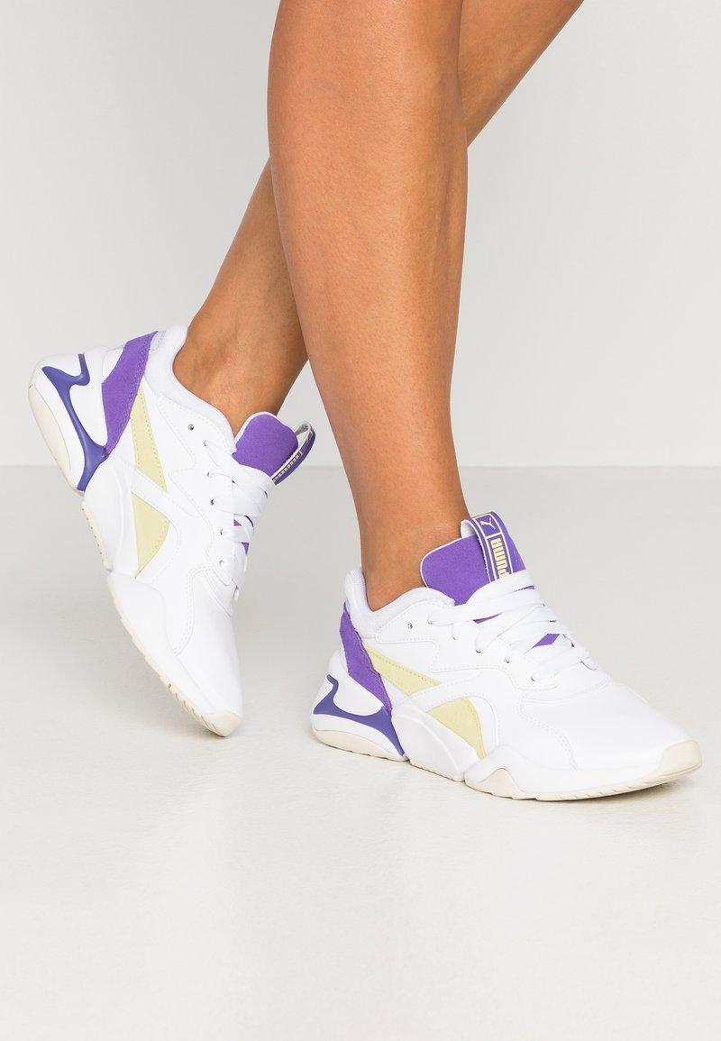 Puma - NOVA POP  - Trainers - white/purple corallites/sunny lime