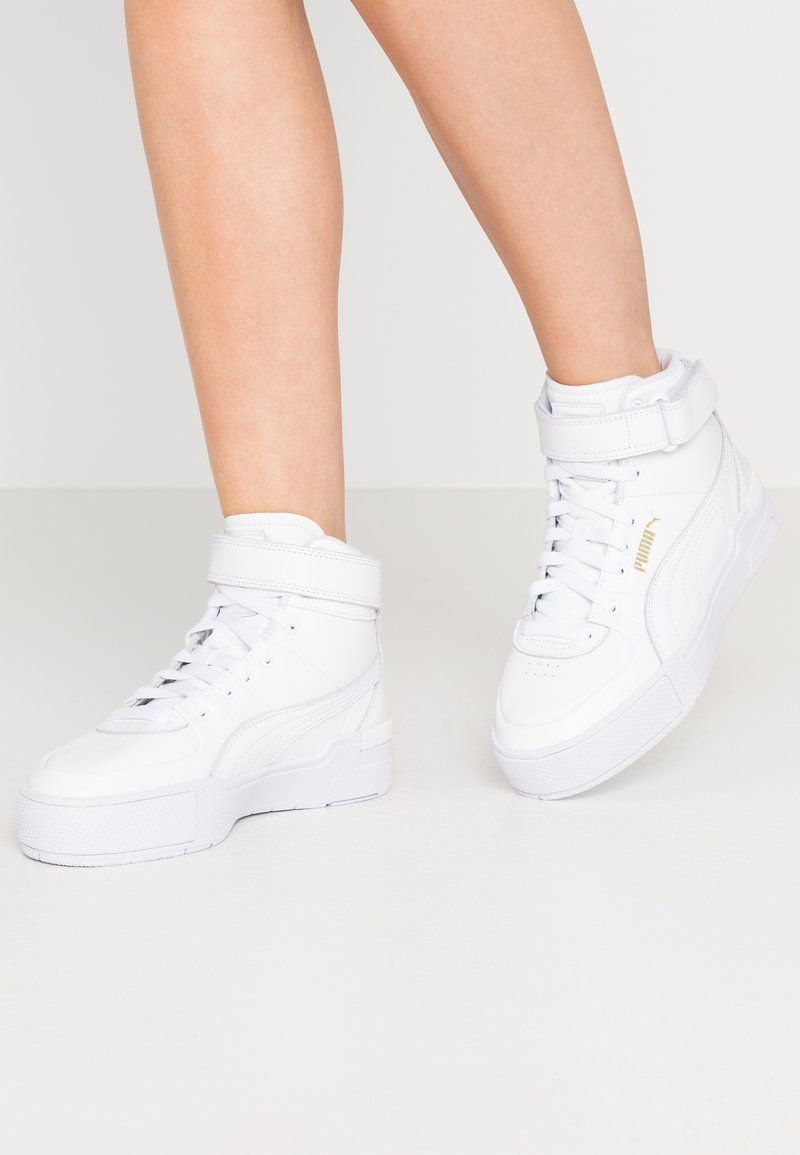 Puma - CALI SPORT WARM UP - Sneakers hoog - white