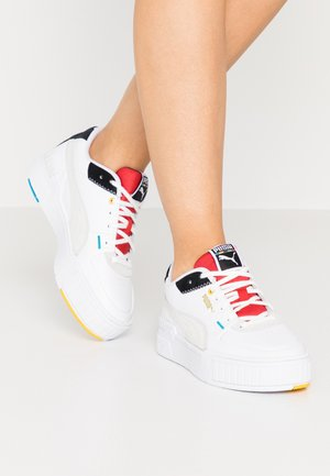 CALI SPORT - Trainers - white/black/high risk red