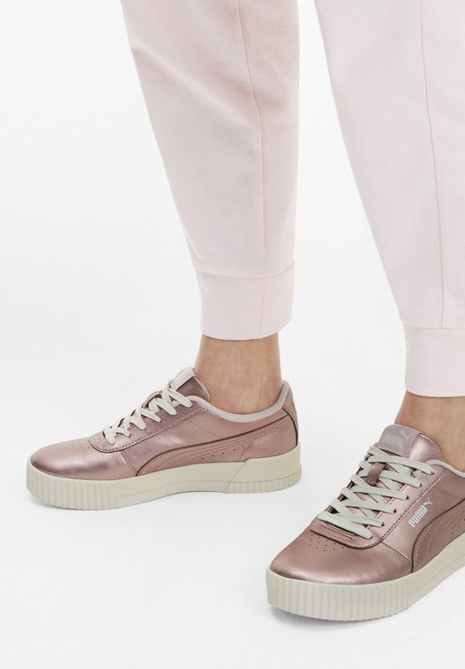 PUMA CARINA METALLIC WOMEN'S TRAINERS VROUW - Sneakers - rose gold-rose gold