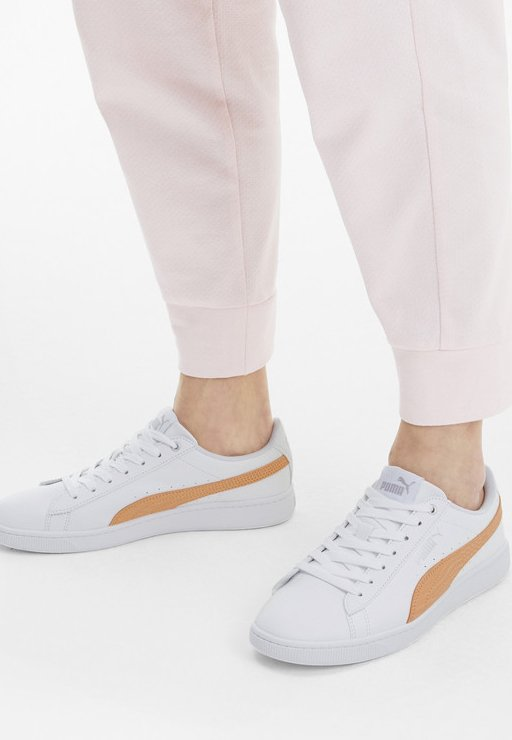 PUMA VIKKY V2 WOMEN'S TRAINERS FEMALE - Sneakers - white-cantaloupe-silver