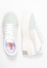 Puma - CALI WEDGE SOCAL  - Sneakers laag - aqua gray/marshmallow/white - 3