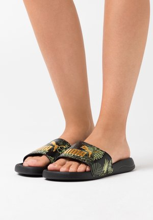 POPCAT SUMMER  - Sandalias planas - black/team gold