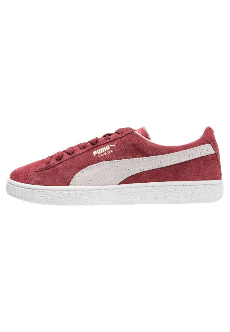 SUEDE CLASSIC+ - Sneakers laag - bordeaux/beige
