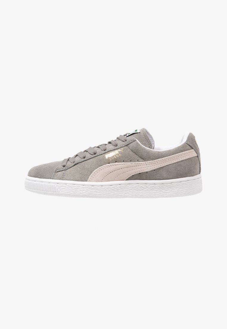 Puma - SUEDE CLASSIC+ - Trainers - steeple gray/white