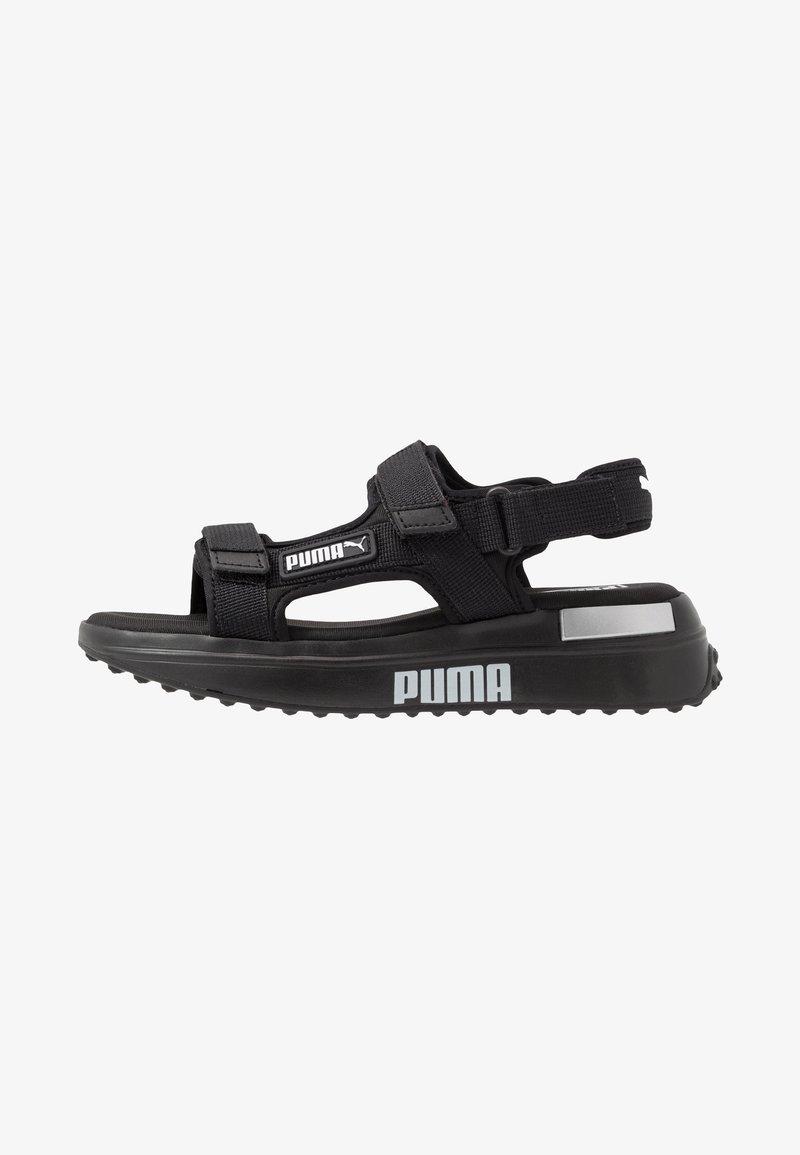 Puma - RIDER  - Chodecké sandály - black/white
