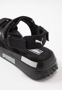 Puma - RIDER  - Chodecké sandály - black/white - 5