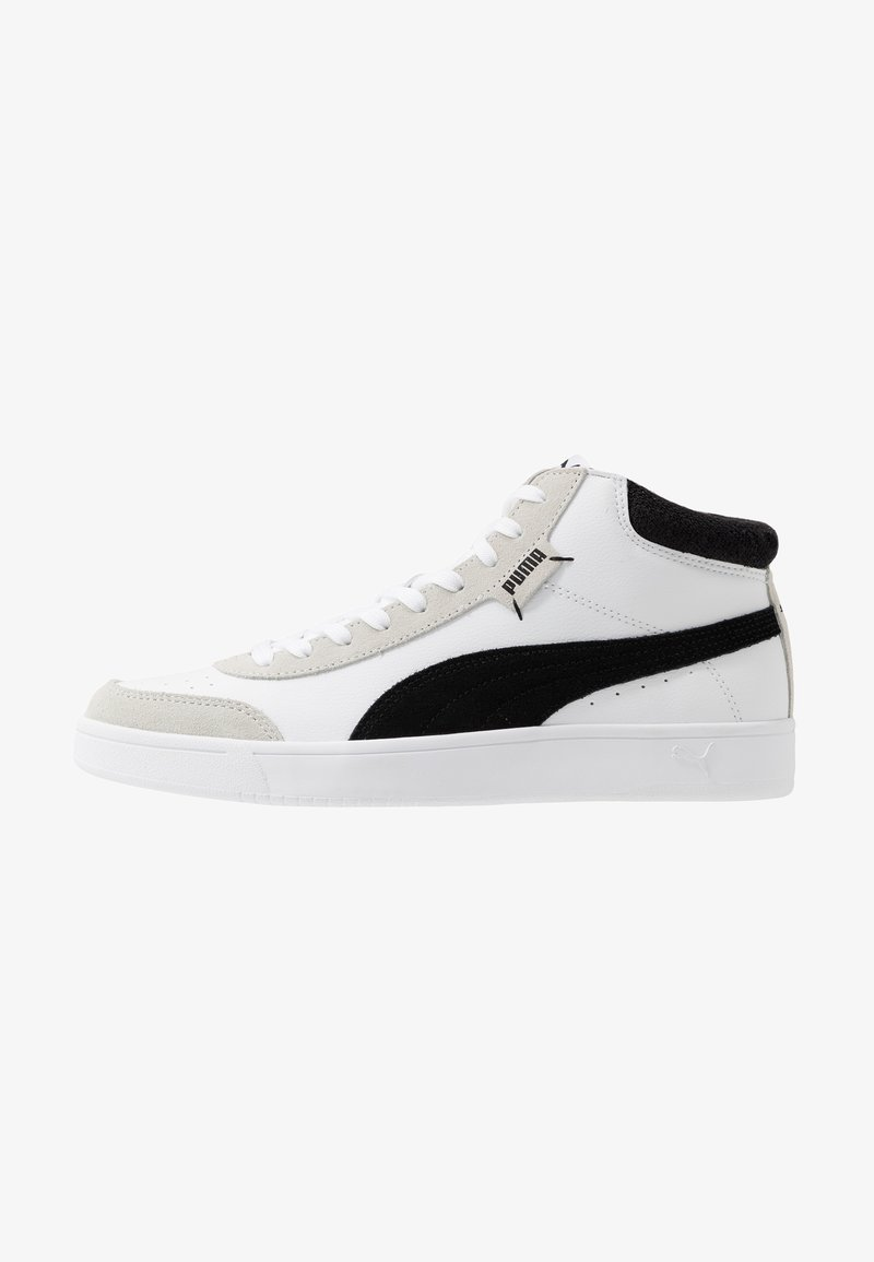 Puma - COURT LEGEND - Sneakersy wysokie - white/black
