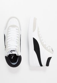Puma - COURT LEGEND - Sneakersy wysokie - white/black - 1