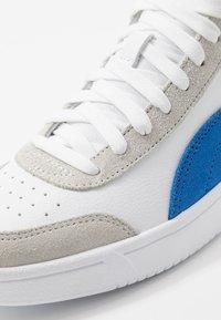 Puma - COURT LEGEND - Baskets montantes - white/palace blue - 5