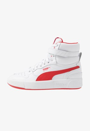SKY LX MID - Korkeavartiset tennarit - white/high risk red