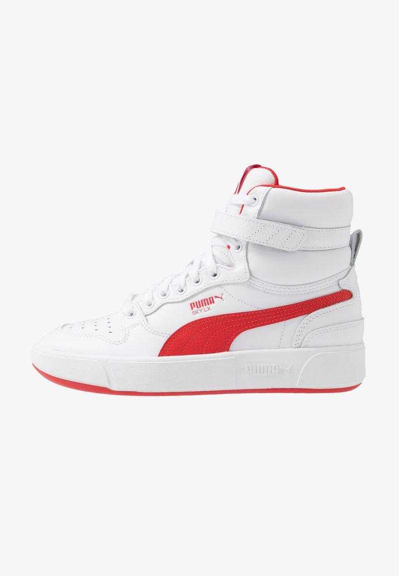 Puma - SKY LX MID - Zapatillas altas - white/high risk red