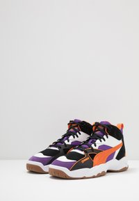 Puma - PERFORMER MID THE HUNDREDS - High-top trainers - black/persimmon orange - 2