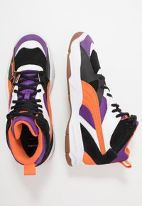 Puma - PERFORMER MID THE HUNDREDS - High-top trainers - black/persimmon orange - 1