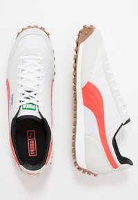 Puma - FAST RIDER - Baskets basses - white/hot coral - 1