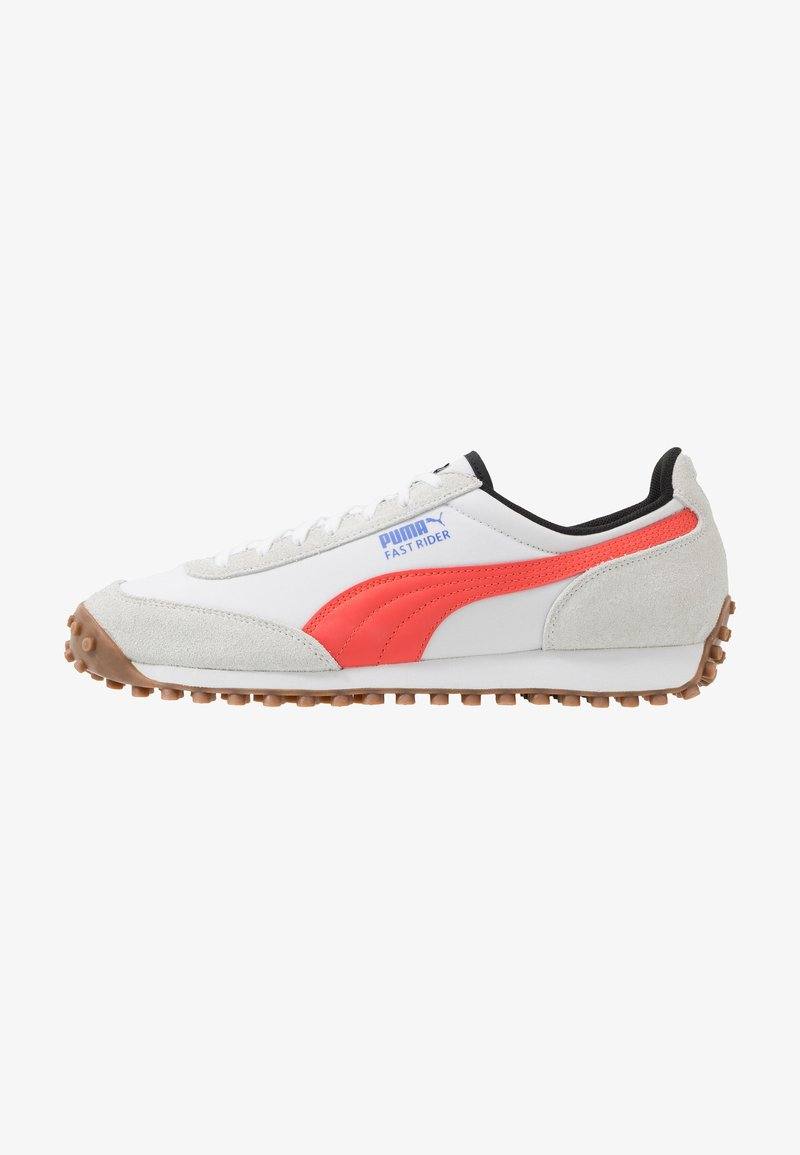 Puma - FAST RIDER - Baskets basses - white/hot coral