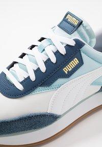 Puma - RIDER - Baskets basses - white/aquamarine/dark denim - 8