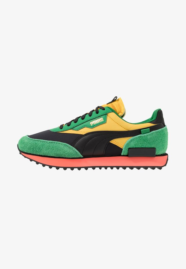 RIDER - Trainers - black/green/spectra yellow