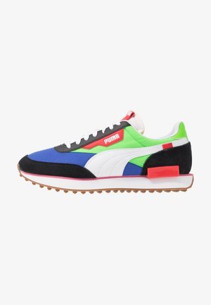 RIDER - Sneakers laag - black/fluo green/dazzling blue