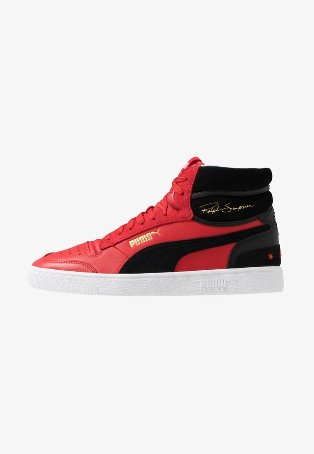 RALP SAMPSON MID - Korkeavartiset tennarit - high risk red/black/white