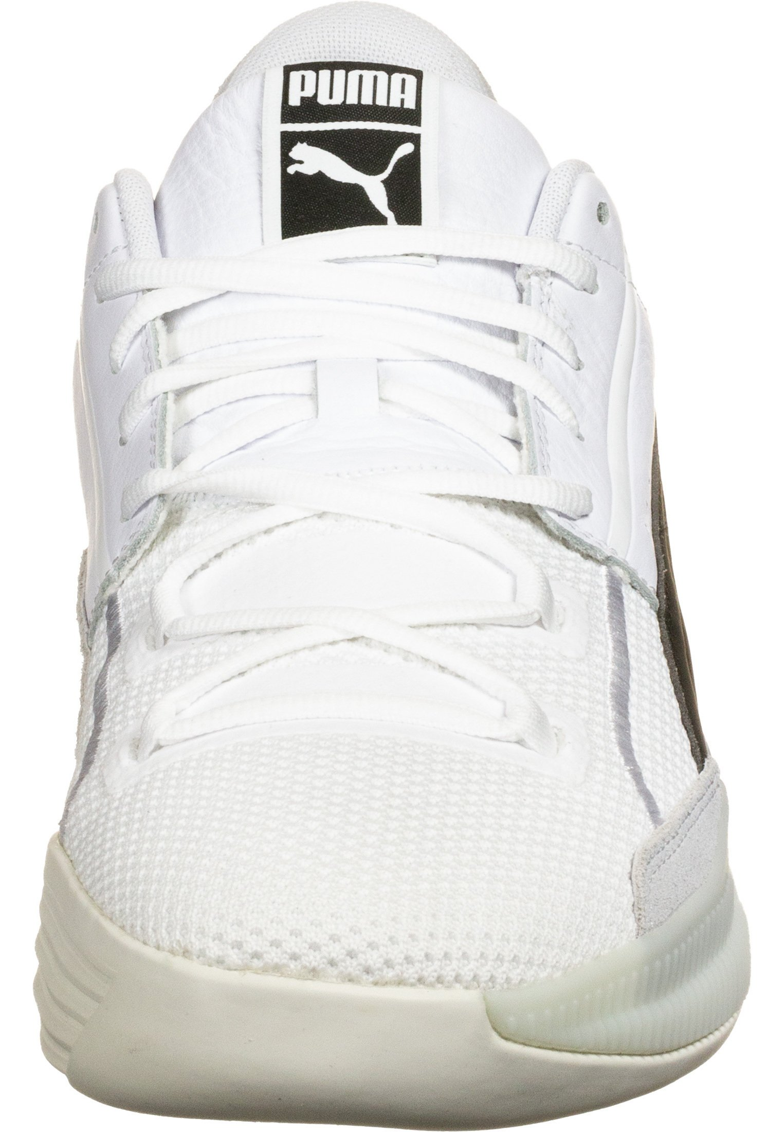 Puma SCHUHE CLYDE HARDWOOD - Baskets basses - white/black