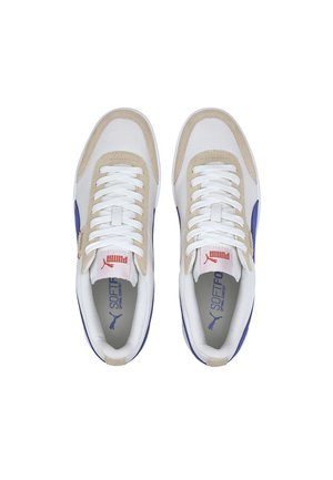 PUMA COURT LEGEND LO CV TRAINERS UNISEX - Baskets basses - wht-blue-tapioca-gold-coral
