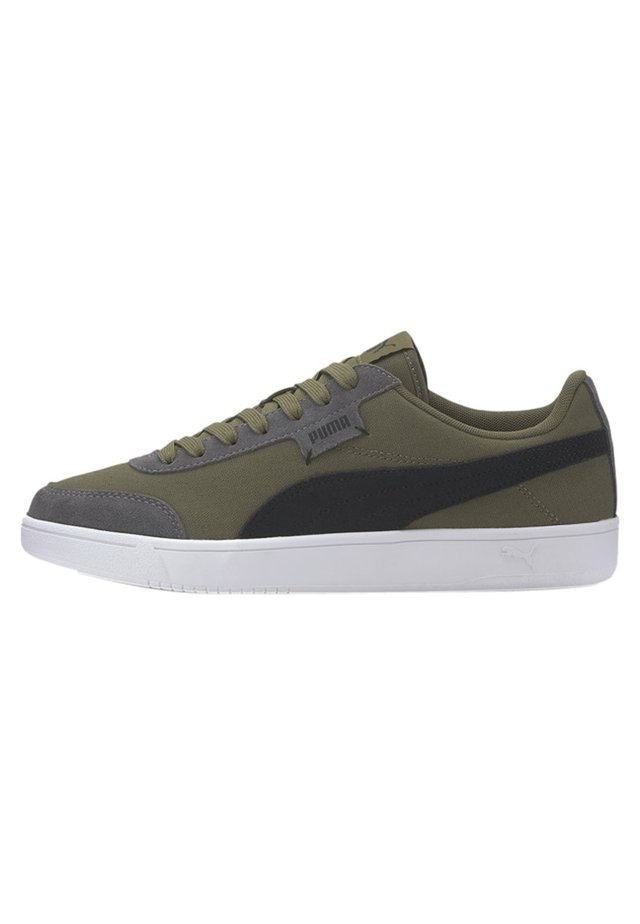 PUMA COURT LEGEND LO CV TRAINERS UNISEX - Sneakers - burnt olive-black-castlerock