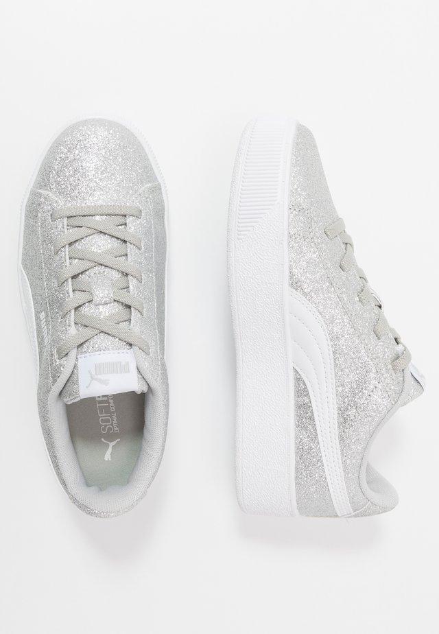 VIKKY PLATFORM GLITZ - Sneakers - silver/white/gray violet