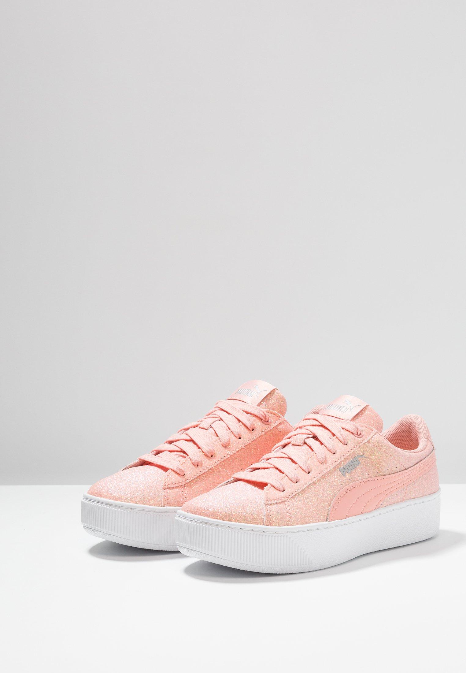 Puma VIKKY PLATFORM GLITZ - Sneaker low - peach bud - Zalando.de