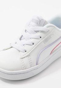 Puma - VIKKY - Mocassins - white/silver/purple heather/bubblegum/sunny lime - 2