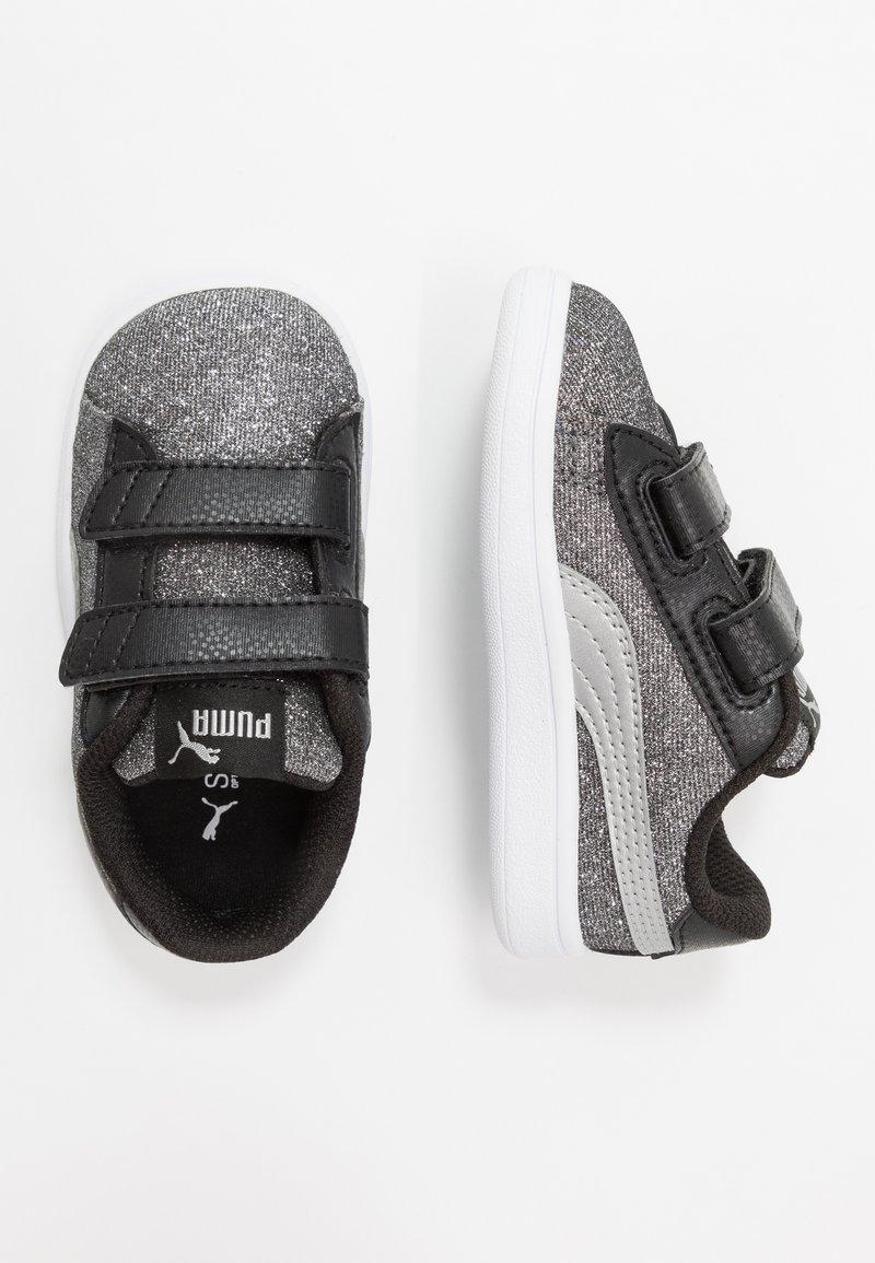 Puma - SMASH GLITZ GLAM - Baskets basses - black/silver/white