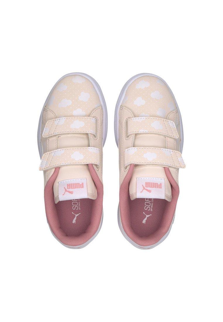 PUMA SMASH V2 CLOUD KIDS' TRAINERS GIRLS Chaussures à scratch rosewater peony white