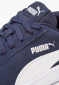 Puma - SMASH - Baskets basses - peacoat/white - 5