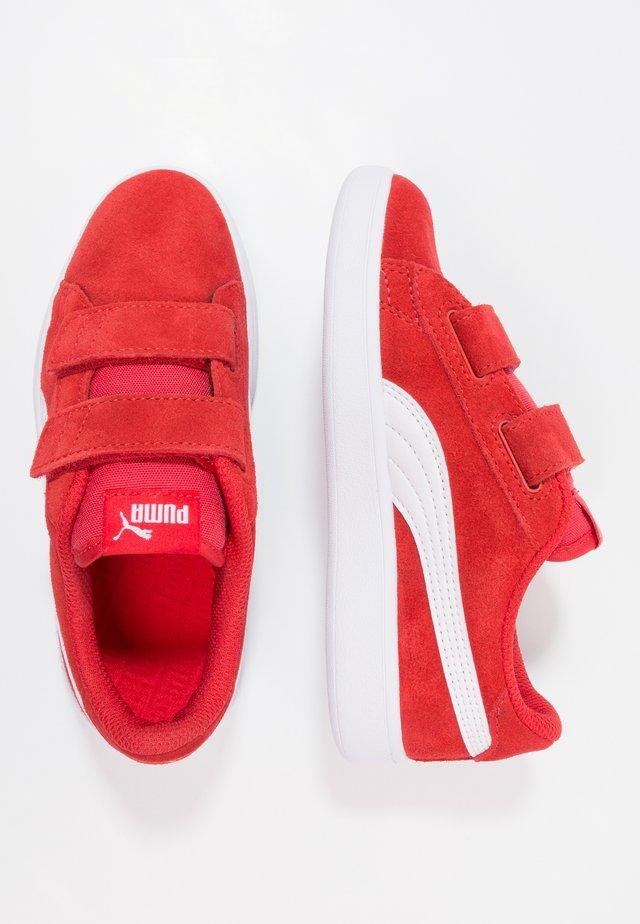 PUMA SMASH V2 SD V PS - Sneakers - high risk red/white