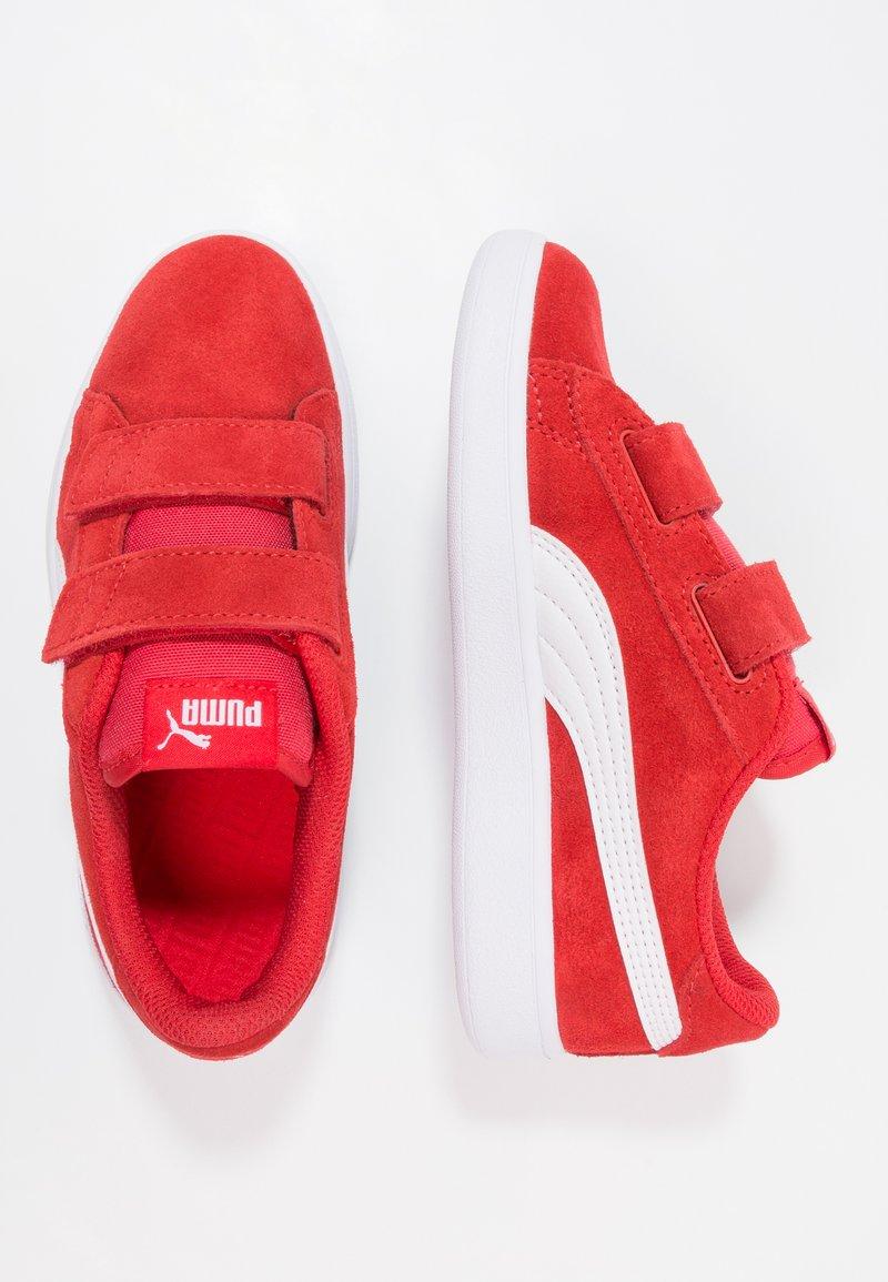 Puma - PUMA SMASH V2 SD V PS - Sneakers - high risk red/white