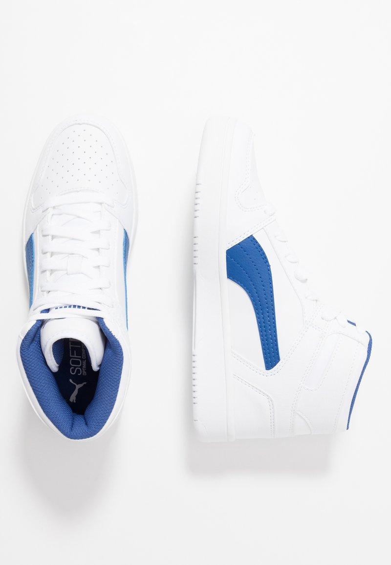 Puma - REBOUND LAYUP - High-top trainers - white/galaxy blue